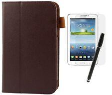 Hülle f Samsung Galaxy Tab 3 7.0 Lite SM-T110 Leder-Imitat Tasche Case  braun