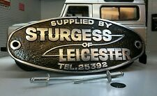 Land Range Rover Protezione Vintage Alu Vaschetta Banco Stemma Sturgess