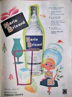 PUBLICITÉ DE PRESSE 1960 MARIE BRIZARD PRESTIGE DES LIQUEURS DE FRANCE