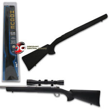 HOGUE OVERMOLDED RIFLE STOCK BLACK RUBBER FOR RUGER 77 MKII SHORT ACTION BARREL