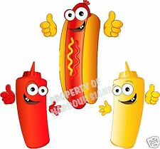 "Hot Dog Decal 14"" Hotdogs Restaurant Concession Trailer Food Truck Cart Sticker"