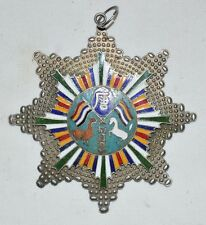 REPUBLIC of CHINA YUN NAN MILITARY GOVERNOR SILVERING CLOISONNE HORNOR MEDAL维护共和