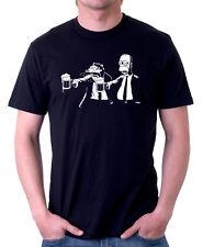 PASTA FICTION HOMER Parodia Divertente Tarentino Pellicola Nero T-shirt di Cotone 09872