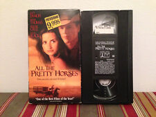 All the Pretty Horses (VHS, 2001) Tape & sleeve