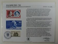 souvenir card PS 50 Hamburg 1984 1963 15¢ airmail Postal Show cancelled