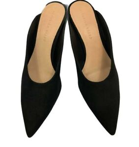New $295 Veronica Beard Black TARAN Suede Mules   Size: 11