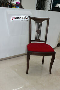Classical Antique Style Chair Wood Textile Club Seat Pads Design Chair Immediate