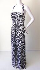 ALFRED ANGELO Halter Neck Black and White Maxi Dress Size 12  US 8  rrp $498.00