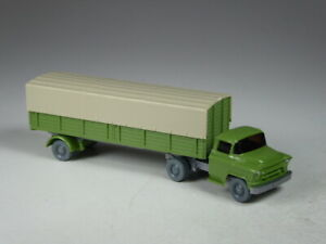 (LÖS-1) Wiking Sondermodell Chevrolet Pritschen Sattelzug maigrün