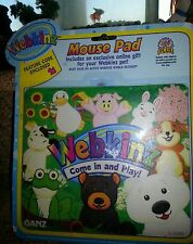 """WEBKINZ RARE """"Come In And Play"""" MOUSE PAD - NEW UNOPENED PACKAGE WITH CODE"""