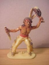 Jean Hoefler/Höfler - INDIAN HOLDING KNIFE & SCALP - Tan/Painted
