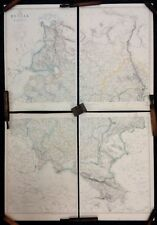 Russia in Europe. Complete 4 sheet map. Original 1863 Dispatch Atlas maps.