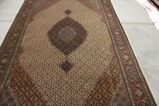 C 1960 Stunning Vintage Exquisite Hand Made Hand Knotted Rug 9x6wool and silk