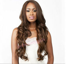 Long Wavy Lace Front  Wig Remy Touch Wavy Loose Wave 100% Human Blend Hair
