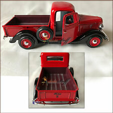 1937 Ford Pickup Truck Black & Red 1/24 Scale Diecast Showcast UNBOXED