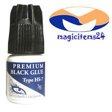 Premium Adhesivo pestañas para Profesionales negro, líquido HS-7