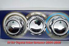 3PC TOYOTA HILUX MK6 MK7 2005-2008 CHROME AIR SWITCH KNOB EASY INSTALL