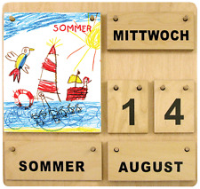 "Dauerkalender aus Holz ""Kinderkünstler"" KAR-513004 (deutsch)"