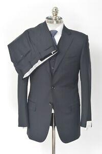 NWT PAL ZILERI Italy Black Loro Piana Super 130's Wool 3Pc Suit 38 R (EU 48)