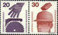 BRD (BR.Deutschland) W40 gestempelt 1972 Unfallverhütung