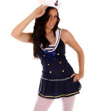 Blue Sailor Girl Ladies Fancy Dress Womens Costume Uniform Adults Outfit 10-12