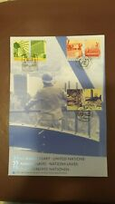 United Nations 2000 55th Anniversary Set & S/S Triple Cancel First Day Cover