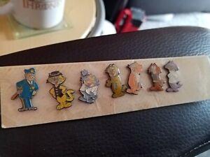 RARE SET of Top Cat/Boss Cat  pin badges