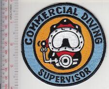 SCUBA Hard Hat Diving Commercial Diver Supervisor Qualification Patch Bl med 4in