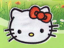 Lovely Red Black Hello Kitty Fabric Patches Iron On Embroidered Appliques