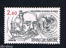 1 FRANCOBOLLO FRANCIA TUBERCOLOSI ROBERT KOCH 1982 usato