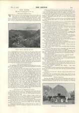 1903 Mexican Native Indian Hut Mitlac Bridge Mexican Railway