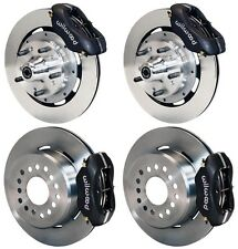 "WILWOOD DISC BRAKE KIT,59-64 IMPALA,BEL AIR,BISCAYNE,12"" ROTORS,BLACK CALIPERS"