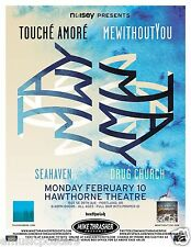 TOUCHE AMORE/MEWITHOUTYOU/SEAHAVEN/DRUG CHURCH 2014 PORTLAND CONCERT TOUR POSTER