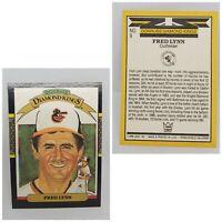 Vintage 86 Donruss Fred Lynn baseball card Baltimore Orioles #9 Diamond Kings