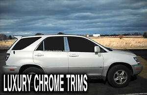 Lexus RX 300 Stainless Steel Chrome Pillar Posts by Luxury Trims 1999-2003 (6pc)