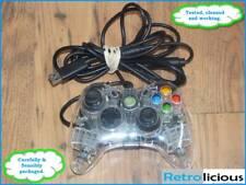 Xbox 360 Con cable Pad de control controlador resplandor Clara Transparente #3702