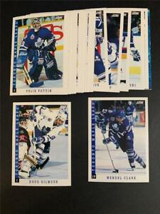 1993/94 Score Toronto Maple Leafs Team Set 27 Cards