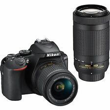 Nikon D5600 with AF-P 18-55mm + AF-P 70-300mm VR Kit With Bag and 8GB memory car