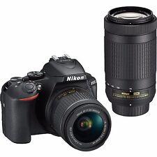 Nikon D5600 with AF-P 18-55mm + AF-P 70-300mm VR Kit With Bag and 8GB memory car