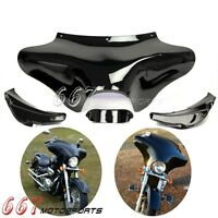 Black Front Outer Batwing Fairing For Harley Softail Road King FLHR FLST Fat Boy