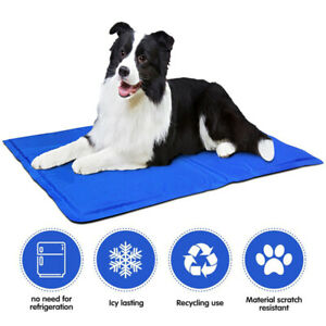 2Pc Pet Dog Cat Self Cooling Gel Mat Pad Bed Cool Mattress For Body Heat Relief