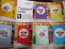 '7 Ladybird Cards' Lucie Heaton Cross Stitch Chart(only)