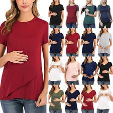 Maternity Women Pregnant Summer Short Sleeve Tops Nursing Casual T-Shirt Clothes