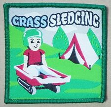 10 Grass sledging guide scout sport blanket badge patch patches badges boy girl