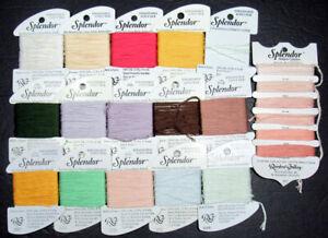 16xNeedlepoint/Embroidery THREAD R GALLERY Splendor+Designer Coll 12plysilk-EC47