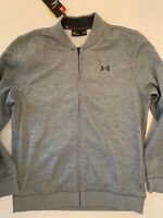 Under Armour Mens Full Zip Sweatshirt Jacket Gray Zip Pockets Sweater Size L