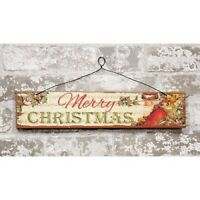 """/""""HAVE A HOLLY JOLLY CHRISTMAS/"""" Tin//Metal Ornament//Sign~Primitive//Country//Vintage"""
