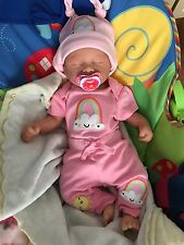 Solid Silicone Full Body Baby Girl Doll - Reborn by Elsie Rodriguez