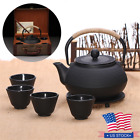 800ml Iron Tea Pot Kettle Teapot Cup with Strainer Gift Box Japanese Style Set