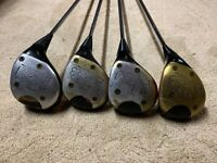 Set Of 4 Ping Eye 2 Right Handed RH Woods 1,3,4,5 ZZ Lite Shafts (5 Is KT-M)